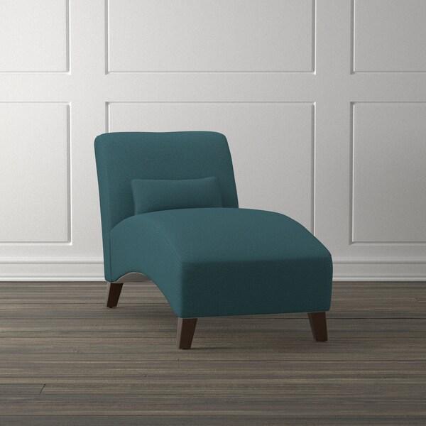 Handy Living Collbran Caribbean Blue Linen Chaise Lounge