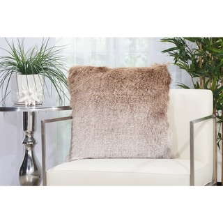 "Mina Victory Illusion Ombre Shag Throw Pillow by Nourison (20"" x 20"")"