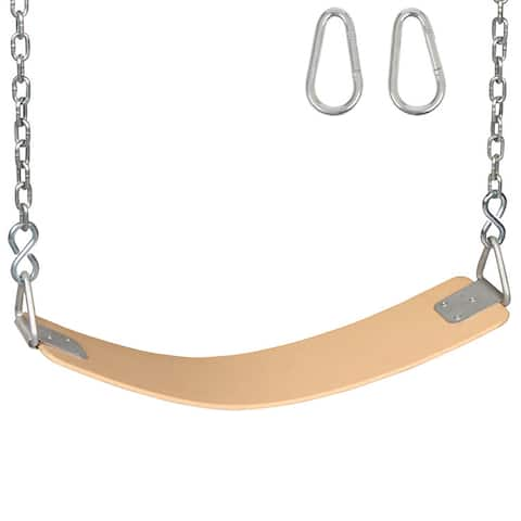 Swing Set Stuff Inc. Commercial Rubber Belt Seat with Chains and Hooks