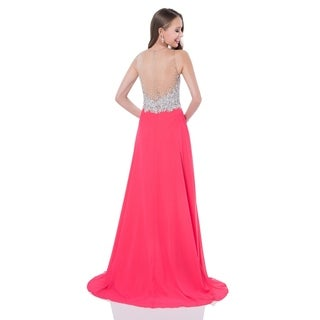 A-line Prom Gown with crystal bodice (3 options available)