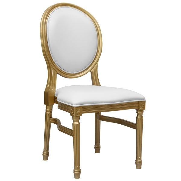 round back dining chairs Shop Bartlett Gold/White Round Back Dining Chair   Free Shipping  round back dining chairs