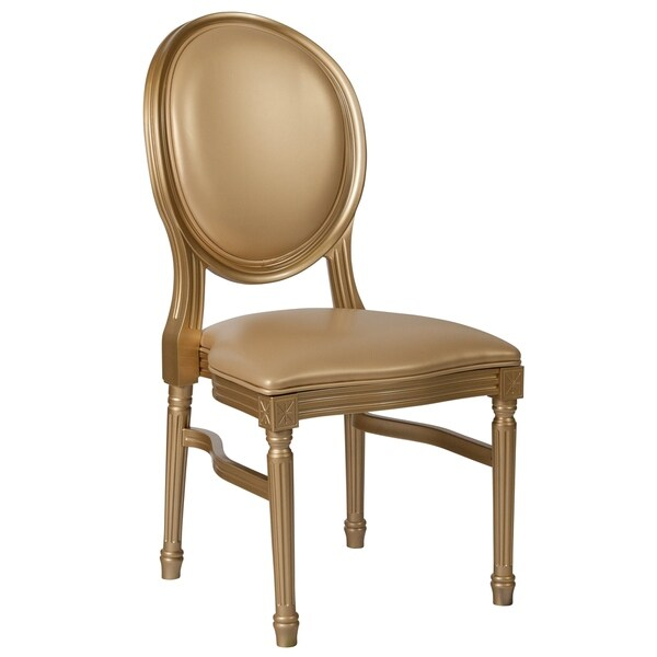 Bartlett Gold Round Back Dining Chair