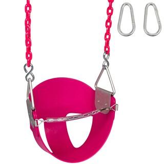 Swing Set Stuff Inc. Highback Half Bucket with 5.5 Ft. Coated Chain