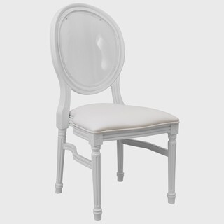 Laurel White Transparent Round Back Dining Chair