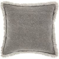 """Mina Victory Life Styles Pleated Velvet Throw Pillow by Nourison (18"""" x 18"""")"""