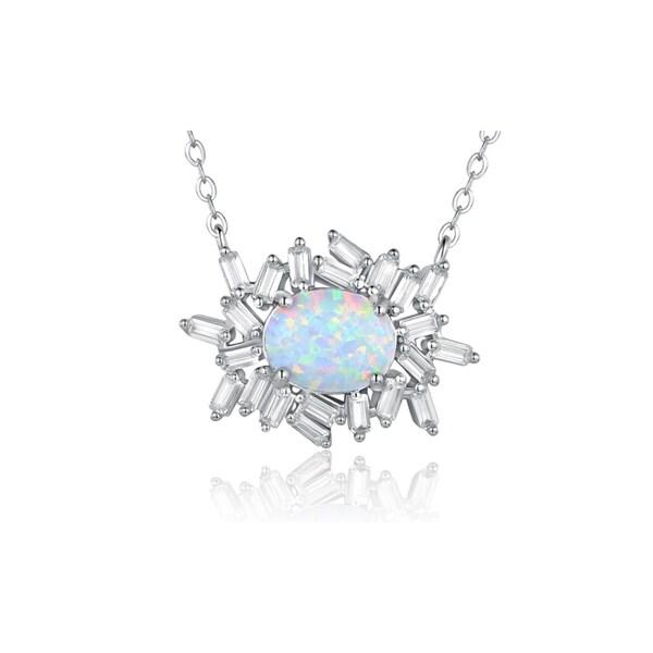 White gold plated fire opal pendant free shipping on orders over white gold plated fire opal pendant aloadofball Gallery