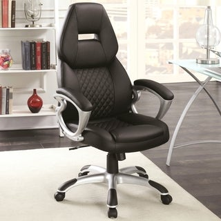 Zender Adjustable Quilted Design Modern Swivel Office Chair