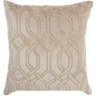 "Link to Mina Victory Luminecence Embroidered Interlock Throw Pillow by Nourison (18"" x 18"") Similar Items in Decorative Accessories"