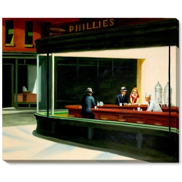 Edward Hopper 'Nighthawks' Hand Painted Oil Reproduction
