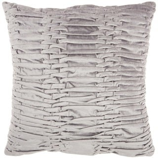 "Mina Victory Life Styles Ruched Velvet Throw Pillow by Nourison (18"" x 18"")"