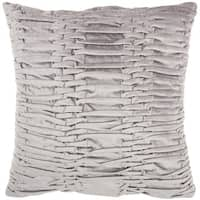 """Mina Victory Life Styles Ruched Velvet Throw Pillow by Nourison (18"""" x 18"""")"""