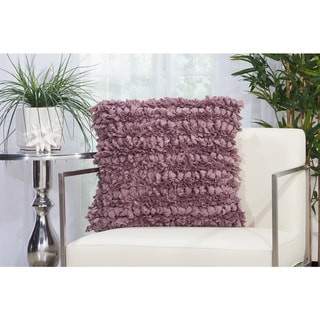 Mina Victory Paper Loop Shag Throw Pillow by Nourison (20-Inch X 20-Inch)