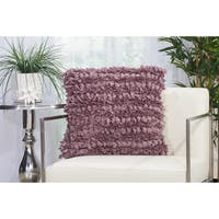 """Mina Victory Paper Loop Shag Throw Pillow by Nourison (20"""" x 20"""")"""