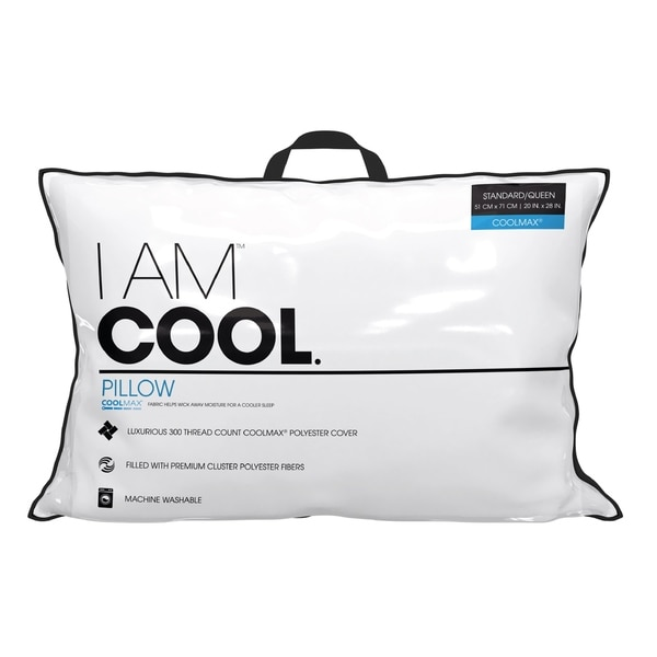 I AM Cool Pillow - White
