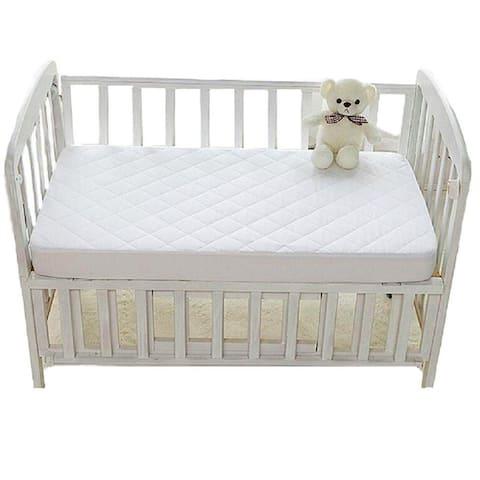 "Portable Crib Mattress Protectors, Hypoallergenic, Avoid bed bug and Dust mite (Portable Crib 25"" x 38"" x 5"", White) - White"