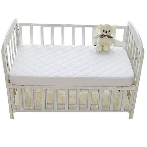 """Crib Mattress Protectors, Hypoallergenic, Avoid bed bug and Dust mite (Crib 28"""" x 54"""" x 6"""", White)"""