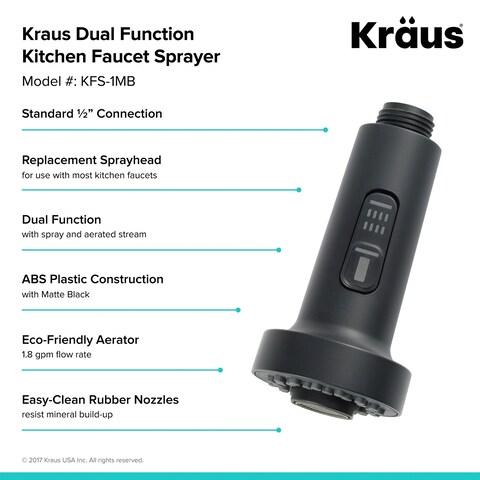 Kraus KFS-1 Dual Function Kitchen Faucet Sprayer