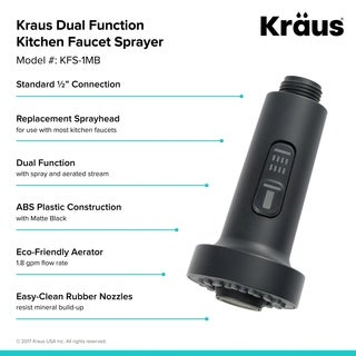 Kraus KFS-1 Dual Function Kitchen Faucet Sprayer
