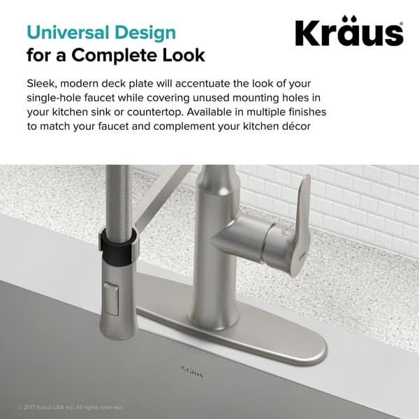 Shop Kraus DP01 Kitchen Faucet 10 inch Deck Plate - Free ...