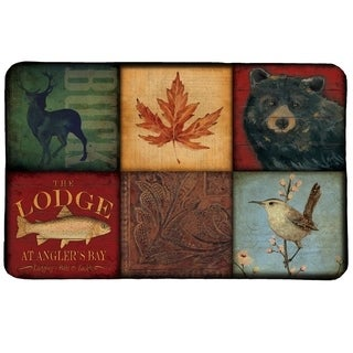Laural Home Lodge Patch Memory Foam Mat