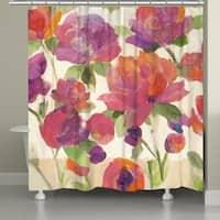 Laural Home Garden Delight Shower Curtain