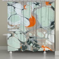 Laural Home Mint Marble Shower Curtain