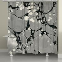 Laural Home Gray Marble Shower Curtain