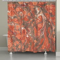 Laural Home Persimmon Marble Shower Curtain