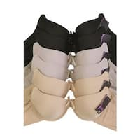 Sofra & Mamia 6-Pack Full Cup Bras (Assorted Colors)