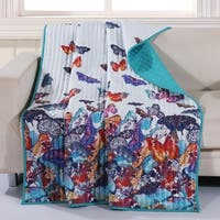 Barefoot Bungalow Mariposa Reversible Quilted Throw