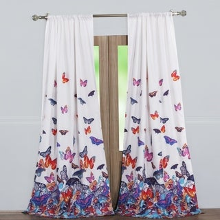 Mariposa Curtain Panel Pair with tiebacks (set of two panels)