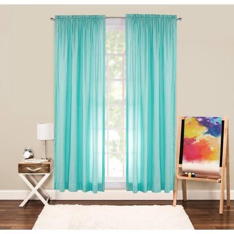 Crayola Serpentine Stripe 84 Inch Rod Pocket Single Curtain Panel