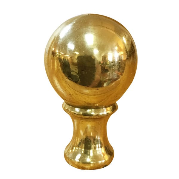 Royal Designs Small Ball Lamp Finial for Lamp Shade- Polished Brass