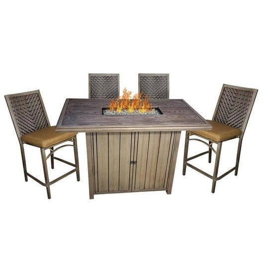 Shop Mojave Fire Pit Bar Height Set Free Shipping Today
