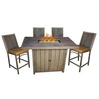 Shop mojave bar height fire pit table free shipping today mojave fire pit bar height set watchthetrailerfo