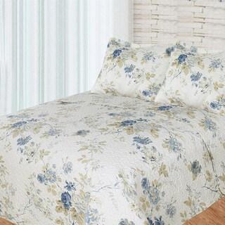 Blue Roses Quilt Set