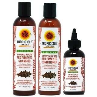 Tropic Isle Living Strong Roots with Red Pimento Oil 3-piece Hair Care Set