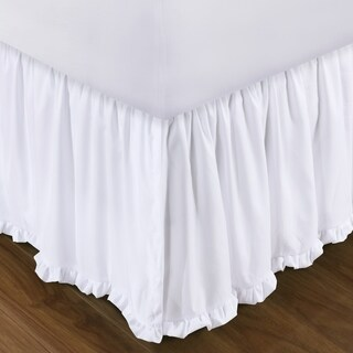 Sasha White 15-inch Drop Bed Skirt