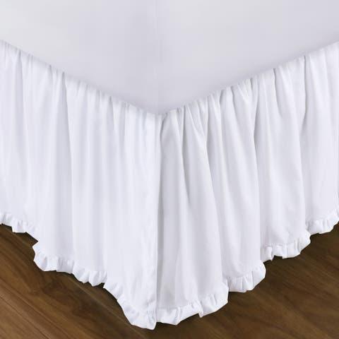 Sasha White 15-inch Drop Bed Skirt