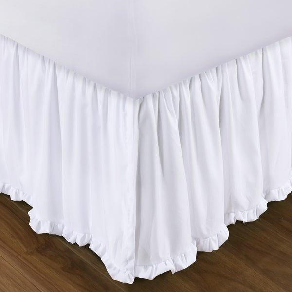 Sasha White 15 Inch Drop Bed Skirt