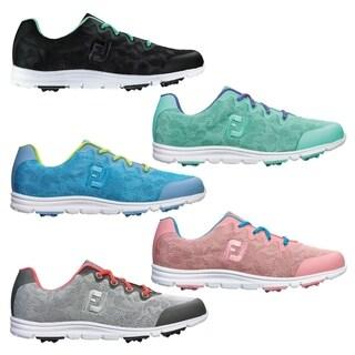 FootJoy Enjoy Spikeless Golf Shoes Womens Pool Blue Medium