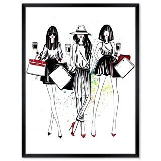 Oliver Gal 'Doll Memories - Shopping Spree' Framed Art