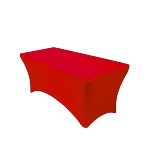 Red 6' ft. Spandex Fitted Stretch Table Cover Wedding