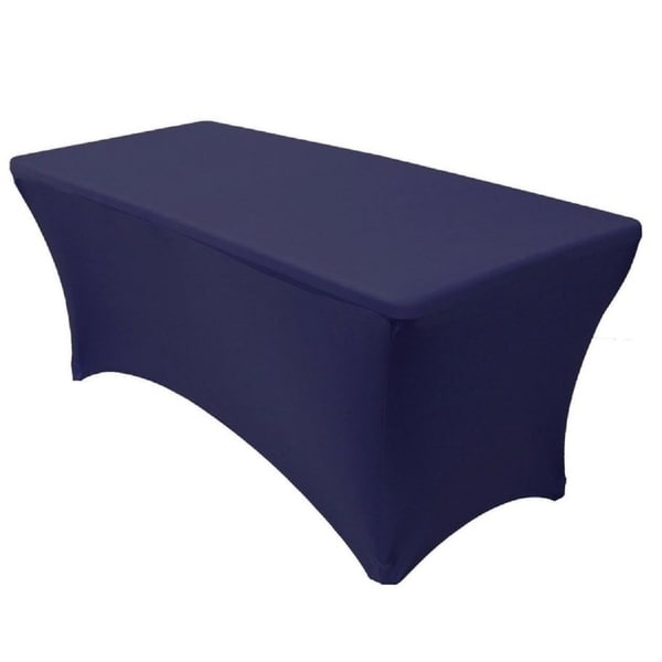 Navy 6' ft. Spandex Fitted Stretch Table Cover Wedding