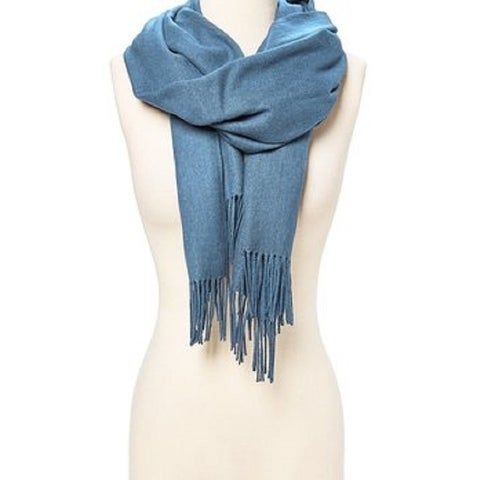 Women Pashmina Cashmere Solid Scarf Shawl Wrap Women Men - L