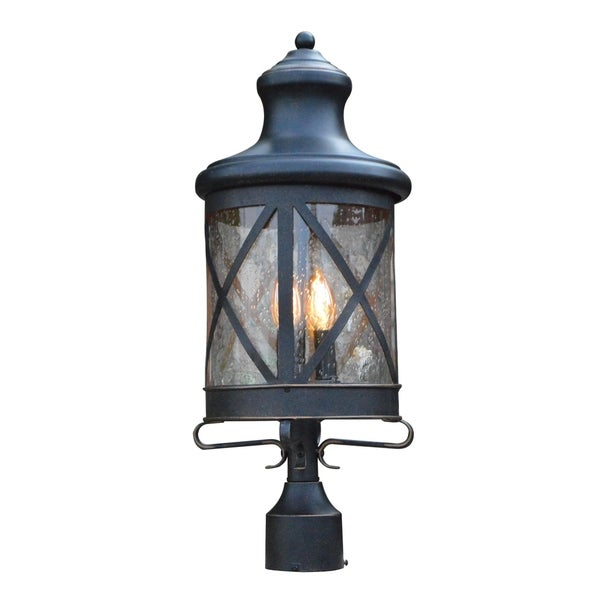 Taysom 3 Light Post Light in Oil Rubbed Bronze (As Is Item). Opens flyout.