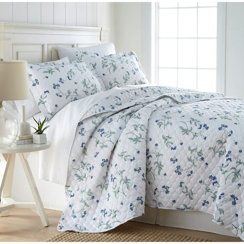 Myosotis Luxury Cotton Lightweight Quilt and Sham Set
