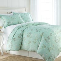 3-piece Reversible Cotton Forget Me Not Duvet Cover Set