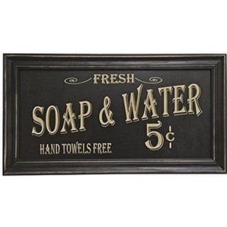 Vintage Bath Advertising Wall Art Soap and Water Laundy Sign