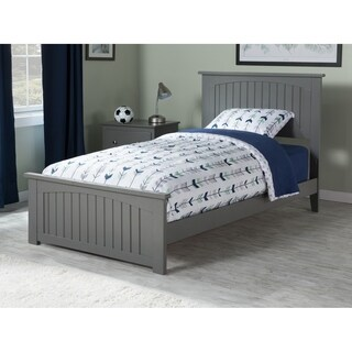 Nantucket Twin Traditional Bed with Matching Foot Board in Atlantic Grey